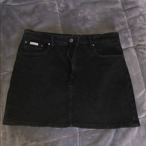 Black Calvin Klein Denim Skirt